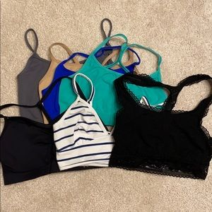 Pack of 6 bandeaus/1 sports bra= 7 items